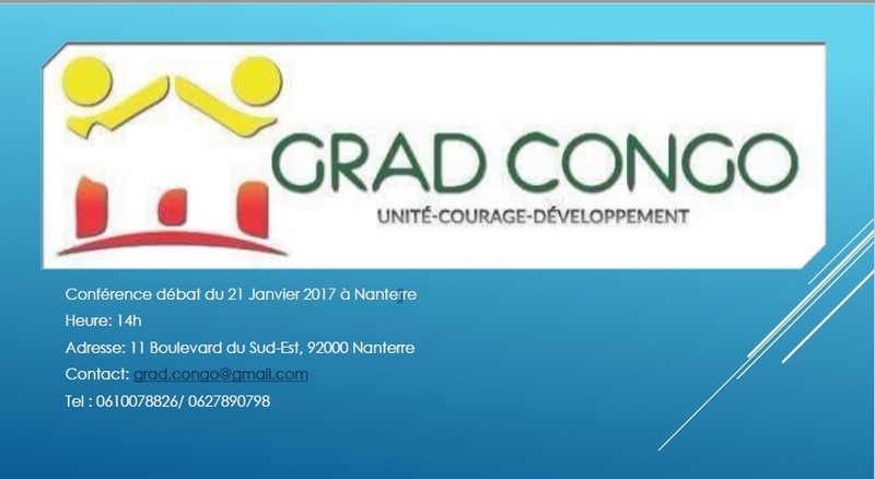 Visuel affiche conférence-débat : « Apports et contributions de la diaspora pour le développement de l'Afrique »