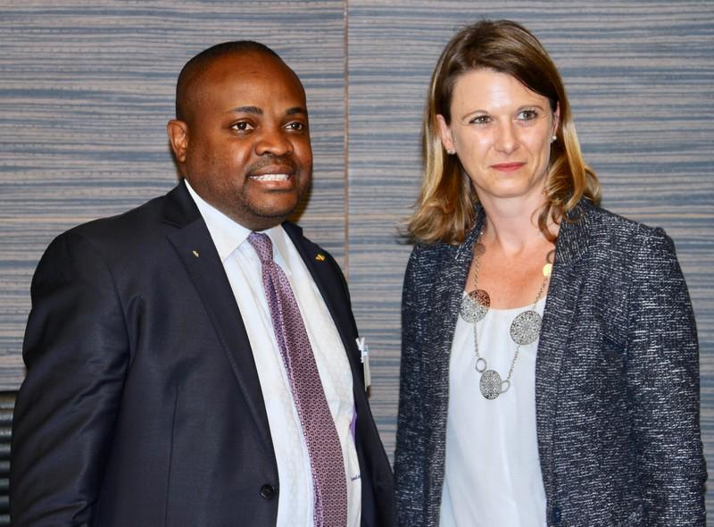 Léonidas Mottom Mamoni et Laurianne Rossi désireux de poursuivre les échanges inter-parlementaires entre le Congo et la France