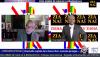 Capture d'écran lors de la première série - Année de Gaulle à Brazzaville- le 24 octobre 2020 : Ziana Tv invite l'historien Éric Deroo