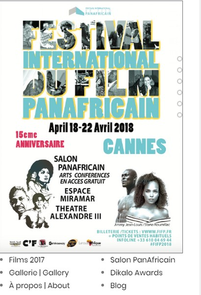 Visuel du Festival International du Film PanAfricain 2018 à Cannes